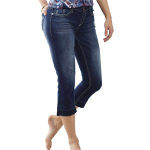 Seven7 New Slim Straight Cropped Jeans Sonja Blue
